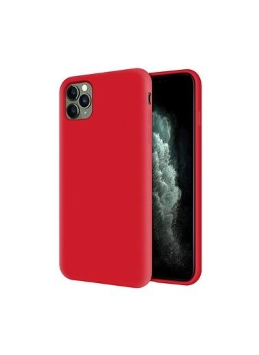 Bludfire Apple Iphone 12 Pro Max Kapak Içi Kadife Soft Logosuz Lansman Silikon Kılıf Kırmızı